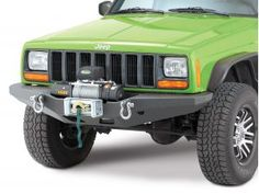 Smittybilt XRC Multi Optional Design (M.O.D.) Front Bumper with Quadratec Q9000 Self Recovery Winch in Black for 84-01 Jeep® Cherokee XJ