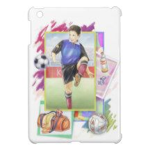 Boy playing football, soccer Fußball Case For The iPad Mini