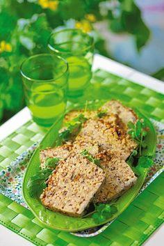 grzybowa pieczeń z tofu i kaszy gryczanej. muszę spróbować!