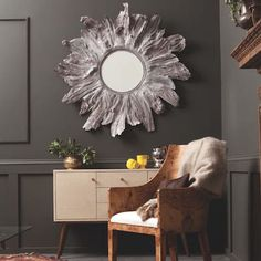 Made Goods presents the organically dramatic Floris Wall Mirror handcrafted from mangrove wood roots that create a subdued, rustic style. Imagine this round, whitewashed accessory in the entryway over a console or the bedroom over a dresser!