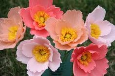 Image result for flowers from crepe paper
