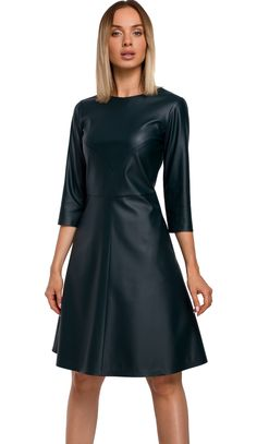 Novinky zimní bundy Faux Leather Dress, Size Chart, Dresses For Work, Green, Journey, Products, Fashion, Flare Dress, Business Professional Dress
