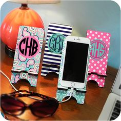 "We like to think of these as ""lawn chairs"" for your cell phone!  For those of you with vinyl cutting machines, these are SO EASY to monogram!"