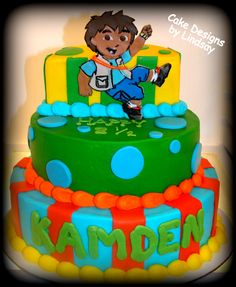 Go Diego Go Toothbrush Holder Tates Nd Birthday Party - Go diego go birthday cake