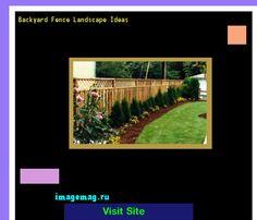 Backyard Fence Landscape Ideas 215518 - The Best Image Search