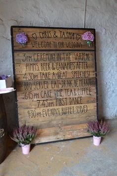 Our wedding Dalduff farm wedding barn pallet sign rustic #daldufffarm #barnwedding #rusticwedding