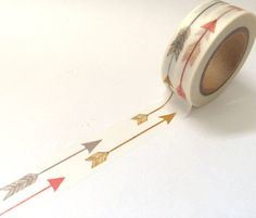 Gold, Gray, & Red Arrow Washi Tape