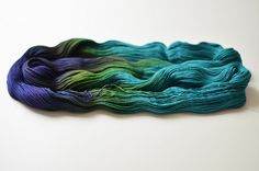 Wollmeise Pure (by IgnorantBliss) - gorgeous mauve - green - turquoise ombre yarn (hva) Green Turquoise, Purple, Mode Cool, Ombre Yarn, Fiber Art, Mauve, Pure Products, Knitting, Crochet