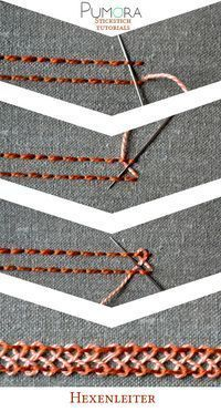 Embroidery Designs escalera de espina de pescado - Learn how to embroider with the lexicon of embroidery stitches. Step by step tutorials on how to do the back stitch and it's variations. Embroidery Stitches Tutorial, Sewing Stitches, Hand Embroidery Patterns, Embroidery Techniques, Ribbon Embroidery, Sewing Techniques, Embroidery Art, Cross Stitch Embroidery, Sewing Patterns
