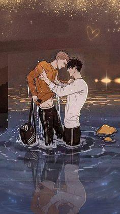 19 Days Anime, 19 Days Manga Español, Manhwa Manga, Manga Anime, Anime Art, 19 Days Characters, Levi X Eren, Gay Art, Cute Gay