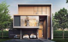 THE MARQ Modern House Facades, Modern Architecture House, Architecture Design, Villa Design, Cabin Design, Minimalist House Design, Modern House Design, Modern Tropical House, Fachada Colonial