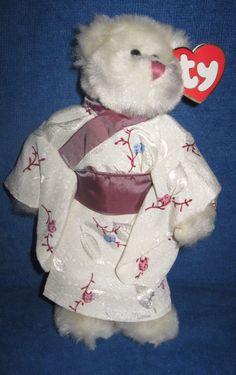 a5a1f3df2b3 Ty Beanie Baby Attic Treasures Coll 1993 White Bear Asian Kimono Suki 8