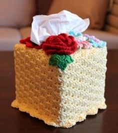 KNOTS N CRAFTS: Crochet Tissue Box Cover