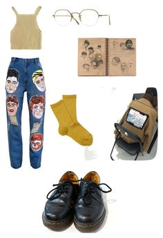 Art hoe by yanni-loenders on Polyvore featuring polyvore, fashion, style, Ashish, Hansel from Basel, Dr. Martens, Oliver Peoples and clothing