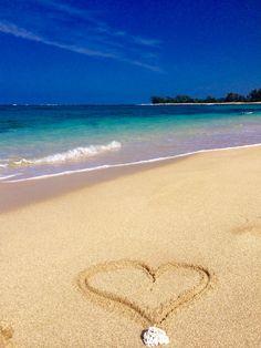 Sandy Hearts! #hawaii #paradise #tropical #beach