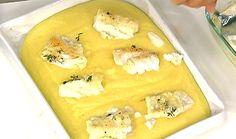 Con dell'ottimo baccalà norvegese, lo chef Daniele Persegani prepara un secondo piatto invernale con i fiocchi: baccalà al latte su crema di polenta