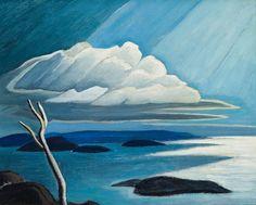 Lawren Harris - North East Corner of Lake Superior (Lake Superior Sketch XXXVIII) 12 x 15 Oil on board (1926) Tom Thomson, Group Of Seven, Fine Art Auctions, Lake Superior, Art Of Living, Waves, Landscape, Artist, Corner