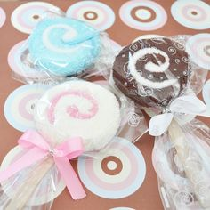 Lollipop baby shower gift.