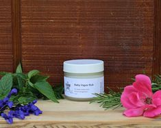 Produkty podobne do Organic Menthol Chest Rub for Congestion ~ Natural Vapor Rub Sinus Relief, Breathe Easy Balm, Get Well Gift Basket Idea, Nasal Aromatherapy w Etsy