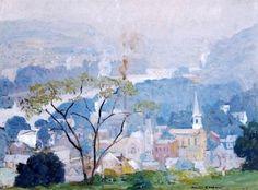 Landscape Painting by American Impressionist Artist Daniel Garber ~ Blog of an Art Admirer