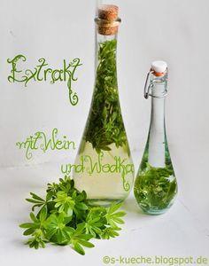 Waldmeister-Sirup und Extrakt