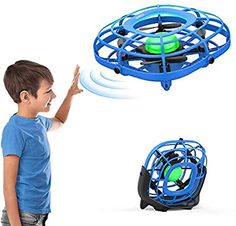 Hand Operated Mini Toy Drone for Kids, Upgraded UFO Flying Ball Toy with LEDs, USB Rechargeable Indoor Drone, Most Popular 2020 Birthday Gift for Year Old Boys and Girls 12 Year Old, Old Boys, Toys For Boys, Ufo, More Fun, Boy Or Girl, Birthday Gifts, Best Gifts, Quadcopter Drone