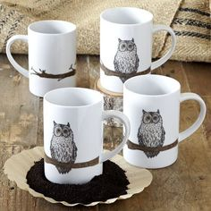 Owl coffee cups...I like!