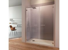 NICHE SHOWER CABIN WITH HINGED DOOR ARIA PORTA 2A ARIA COLLECTION BY TDA | DESIGN TDA PROJECT