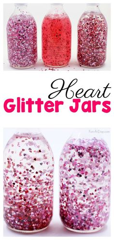 How to Make a Glitter Jar for Valentine's Day - What an awesome discovery bottle idea to try with the kids! #PreschoolActivities