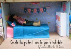 Make an American Girl mini doll room