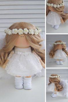 Angel Doll Fabric Doll Handmade Doll Tilda Doll Interior Doll White Doll Soft Doll Cloth Doll Textile Doll Rag Doll Baby Doll by Maria L