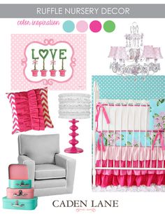#Ruffle #Baby #Bedding & #Nursery #Decor | Caden Lane's pink and blue nursery design