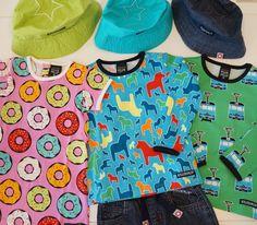 VILLERVALLA Tシャツ・半袖3500円・長袖4400円。スウェーデンの伝統工芸でお馴染みの「ダーラホース」や、ヨーテボリの街を走るトラム・路面電車、ポップなドーナツ柄など、HAPPYな色とデザインが楽しいこども服。オーガニックコットンやOEKO-TEXなど、環境にも子供にも優しく快適な着心地。(サイズ:74~135cm)<THE kids CONCEPT STORE>