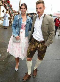 Das süßeste Paar der Wiesn: Lina Meyer mit ihrem Freund FC-Bayern Star und Nationalspieler Joshua Kimmich.