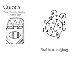 This is a fun color song we do during our colors unit. It is to the tune of Twinkle, Twinkle Little Star.