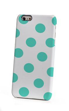 Mint Polka Dots iPhone 6 Case by shoppronetowander on Etsy