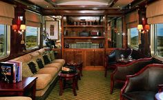 Club Car  Blue Train (South Africa) - Deluxe cabin   The Blue Train is one of the world's premier luxury train for individual travellers or for small groups.Train Chartering and its Private Rail Cars division offers the charter of this train or the hire of a private rail car / carriage within it.