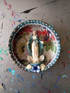 Virgin Mary shadow box shrine Mexican style with by TheVirginRose