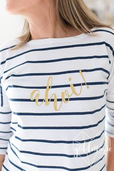 Goldmarie   Ahoi! Maritimes Shirt und Freebie Plotterdatei