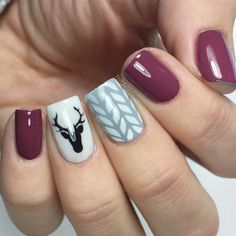 Popular Festive Christmas Nail Art Design Ideas These trendy Nails ideas would gain you amazing compliments. Check out our gallery for more ideas these are trendy this year. Love Nails, Pretty Nails, Fun Nails, Winter Nail Art, Winter Nails, Holiday Nails, Christmas Nails, Holiday Mood, Diy Christmas