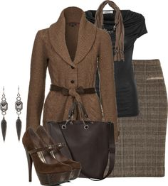 """""""Plaid Skirt"""" by brendariley-1 ❤ liked on Polyvore"""