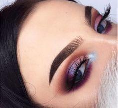Likes, 174 Comments - Anna Jantos (Anna) on . - Make Up Forever Glam Makeup, Silver Eye Makeup, Love Makeup, Skin Makeup, Eyeshadow Makeup, Makeup Inspo, Beauty Makeup, Purple Eyeshadow, Huda Beauty