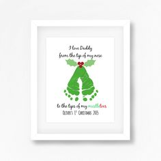 daddy christmas gift from baby daddys 1st by perfectlittleprints - Homemade Christmas Gifts For Dad