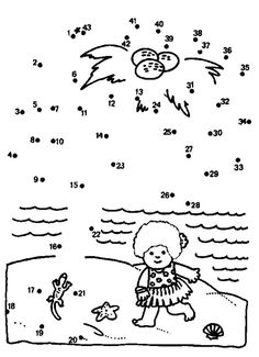 Printable connect the dots for kids worksheets and coloring pages for kid, children. Connect The Dots, Worksheets For Kids, Coloring Pages For Kids, Little Girls, Kindergarten, Projects To Try, Snoopy, Entertaining, Education