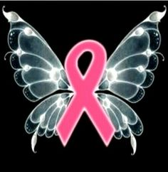 Pink ribbon butterfly Pink Ribbons, Breast Cancer Awareness, Butterfly, Butterflies