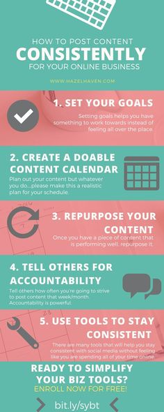 How to Post Content Consistently for your Online Business via @hazelhaven #blogging #contentstrategy #marketing www.hazelhaven.com