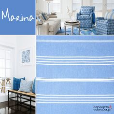 pantone marina, color for interiors, color trends 2017, sky blue, french blue, bright blue, electric blue, Santorini blue, denim blue, marine blue