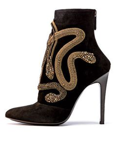Trend Alert: Wild Life. Babara Bui jeweled snake bootie fall 2012