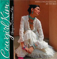 cowgirl style fashion   Our ad in Cowboys and Indian Magazine is out for Spring. Our spring ...