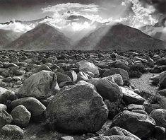 Ansel Adams, Mount Williamson, Sierra Nevada, from Manzanar, CA (1944) | Artsy